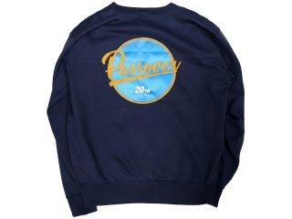 PASSOVER 20th EXCLUSIVE BY KEBOZ EMB PO LOGO 12.4oz CREWNECK NAVY