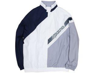 MIZUNO TRACK JACKET NAVY/WHITE/GREY<BR>ミズノ トラックジャケット ネイビー ホワイト グレー