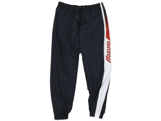 MIZUNO TRACK PANTS BLACK/WHITE/RED<BR>ミズノ トラックパンツ ブラック ホワイト レッド