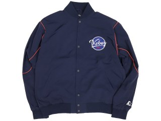 KEBOZ x STARTER BLACK LABEL STADIUM JACKET NAVY/RED