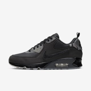 NIKE x UNDEFEATED AIR MAX 90 BLACK/ANTHRACITE<BR>ナイキxアンディフィーテッド マックス90 ブラック/アンスラサイト