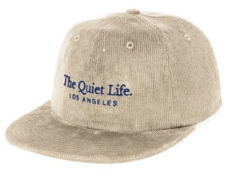 THE QUIET LIFE SERIF CORD POLO HAT STONE<BR>クワイエットライフ セリフコード ポロハット ストーン
