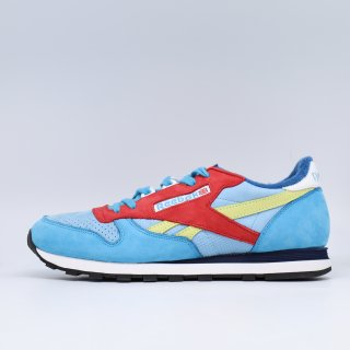 REEBOK x PACKER SHOES CL LEATHER  BLUE/RED<BR>リーボック パッカーシューズ クラシック レザー ブルー レッド