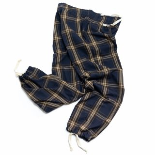 PASSOVER 20th BY COZYHOUSETOKYO 日常着 PLAID PAJAMA PANTS NAVY/BEIGE/BROWN