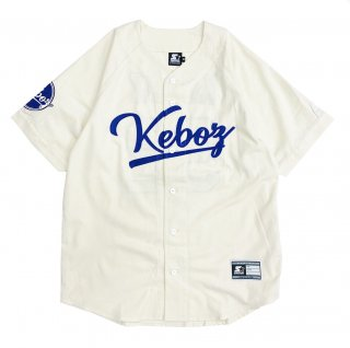 KEBOZ x STARTER BLACK LABEL BASEBALL SHIRTS 2.0 CREAM/NAVY