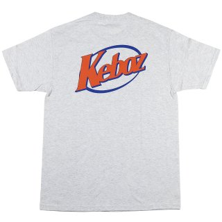 KEBOZ CS S/S TEE ASH/ORANGE SORBET