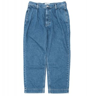 KEBOZ BUGGY TAPERED DENIM WASH BLUE