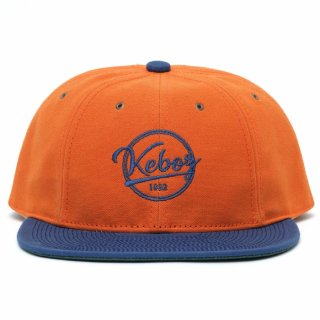 POTEN x KEBOZ x PASSOVER CANVAS BASEBALL CAP MADE IN JAPAN ORANGE/NAVY
