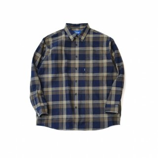 KEBOZ JAPAN MADE CHECK SHIRT NAVY