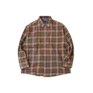KEBOZ JAPAN MADE CHECK SHIRT BROWN
