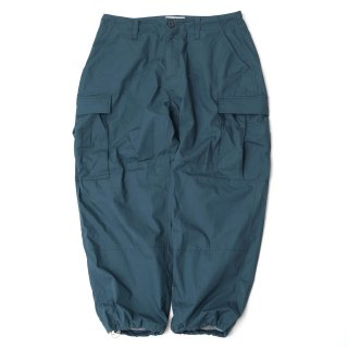 KEBOZ WIDE CARGO PANTS TEAL BLUE