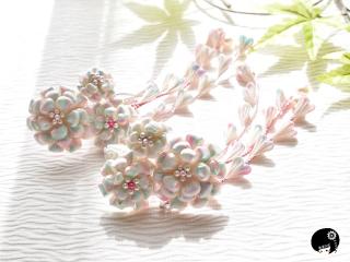 白のお花の髪飾りセット<br>オーダー価格