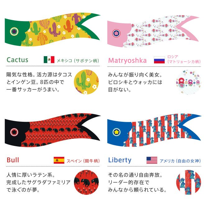 kinomi swingswing(スイスイ)<br>おしゃれな室内用こいのぼり(鯉のぼり)