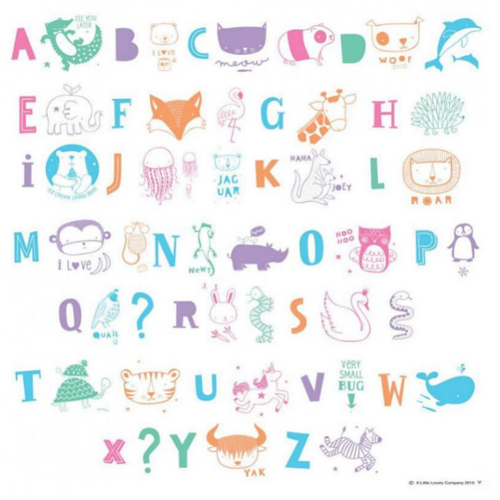 A Little Lovely Company(リトルラブリーカンパニー)<br>Letter  set ABC Pastel<br>ライトボックス レターセット ABCパステル