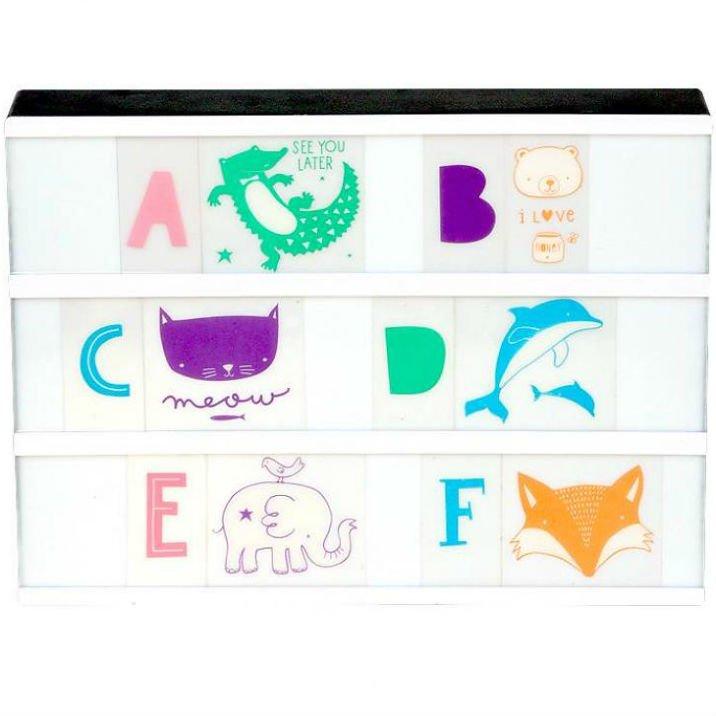 A Little Lovely Company(リトルラブリーカンパニー)<br>Letter  set ABC Pastel<br>ライトボックス レターセット ABCパステル