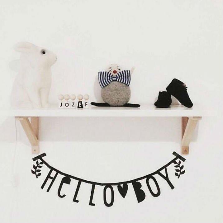 A Little Lovely Company(リトルラブリーカンパニー)<br>Letter banner Black <br>レターバナーブラック