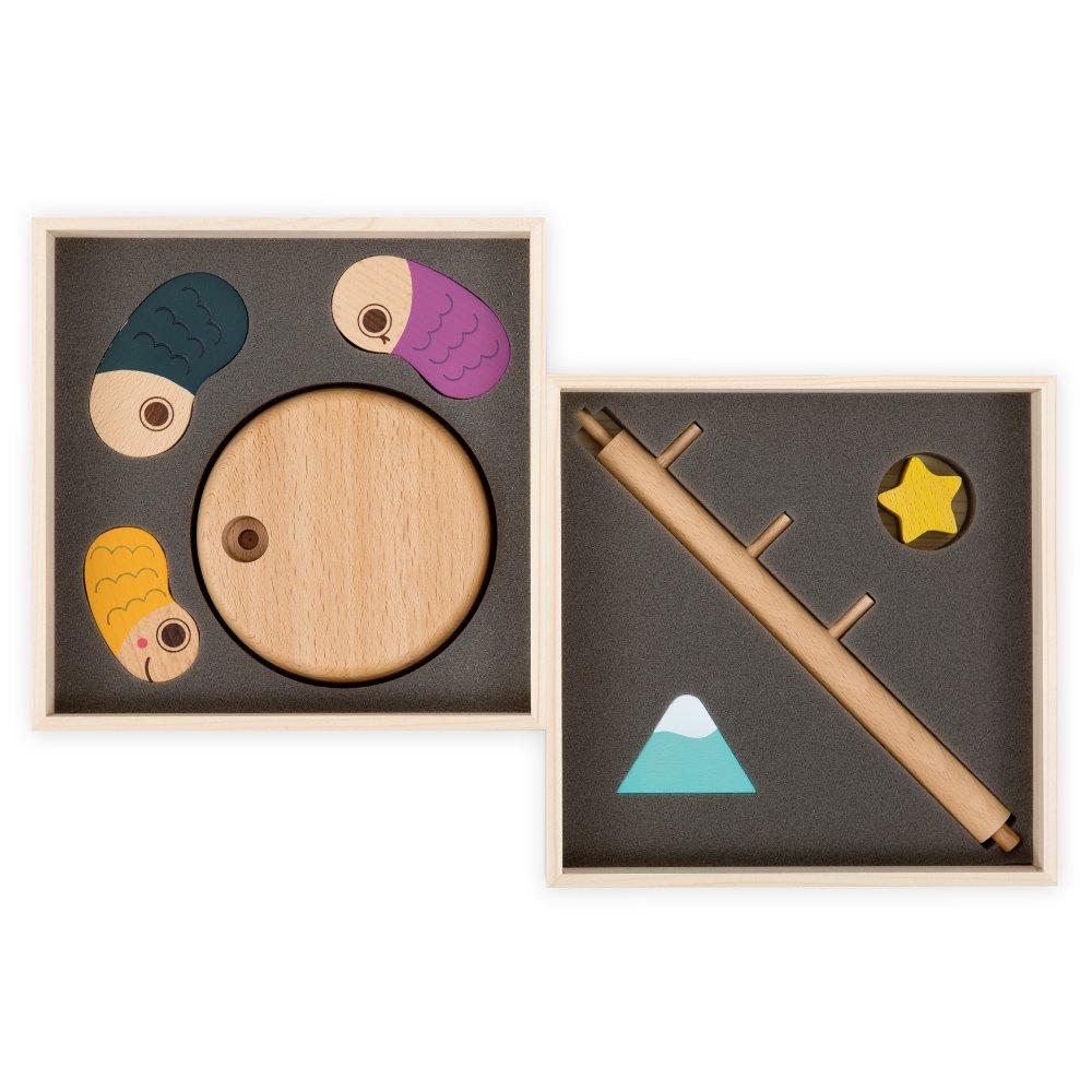 【送料無料】koinoboriセット<br>(室内用木製こいのぼり、鯉のぼり)