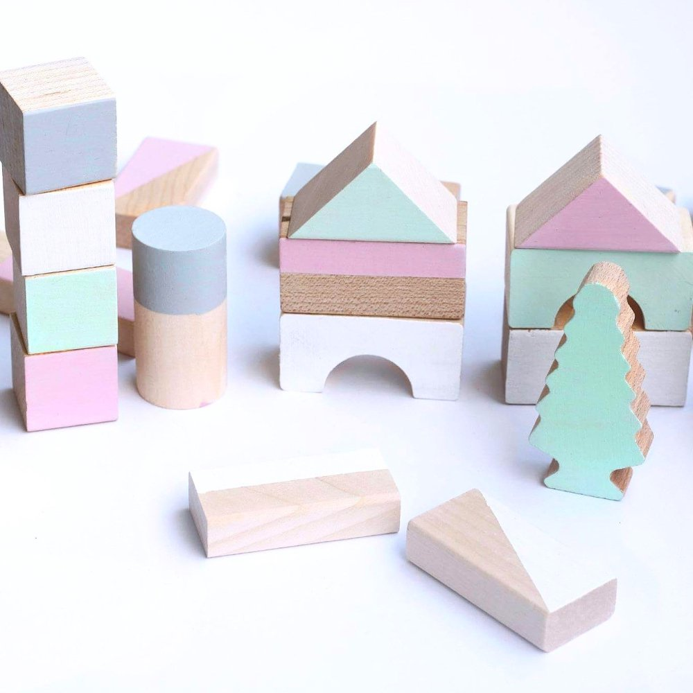 happy little folks(ハッピーリトルフォークス)<br> wooden blocks(木製ブロック) <BR> Spring colours