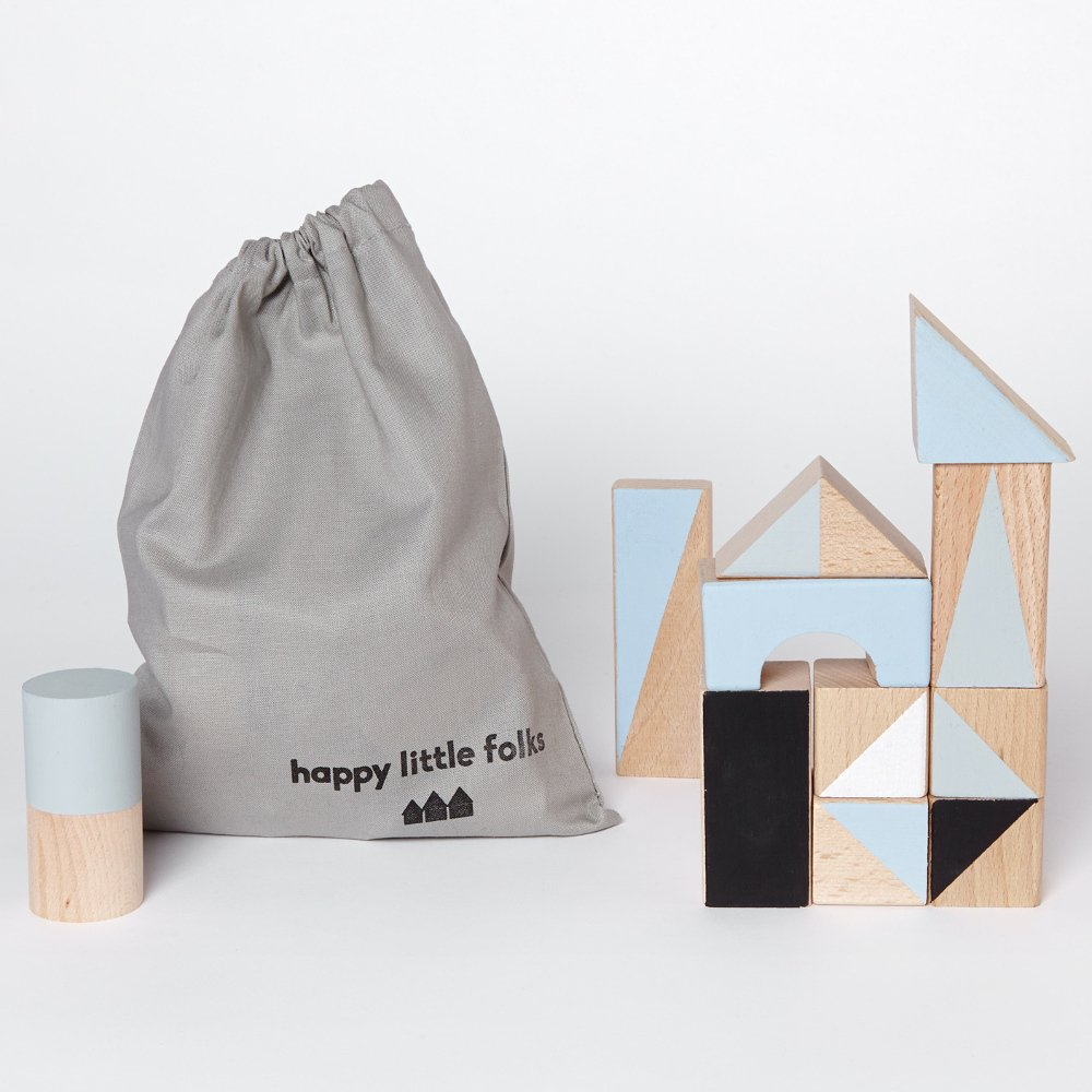 happy little folks(ハッピーリトルフォークス)<br> wooden blocks(木製ブロック) <BR> Winter colours
