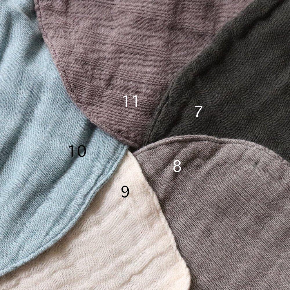 numero74(ヌメロ74)<br>baby bib round 6color<br>コットンスタイ 6色<BR>(ビブ よだれかけ)