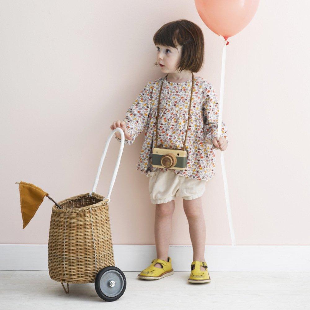 Olli Ella(オリエラ)<br>LUGGY BASKET<BR>natural、straw<BR>(バスケット、お買い物カート)