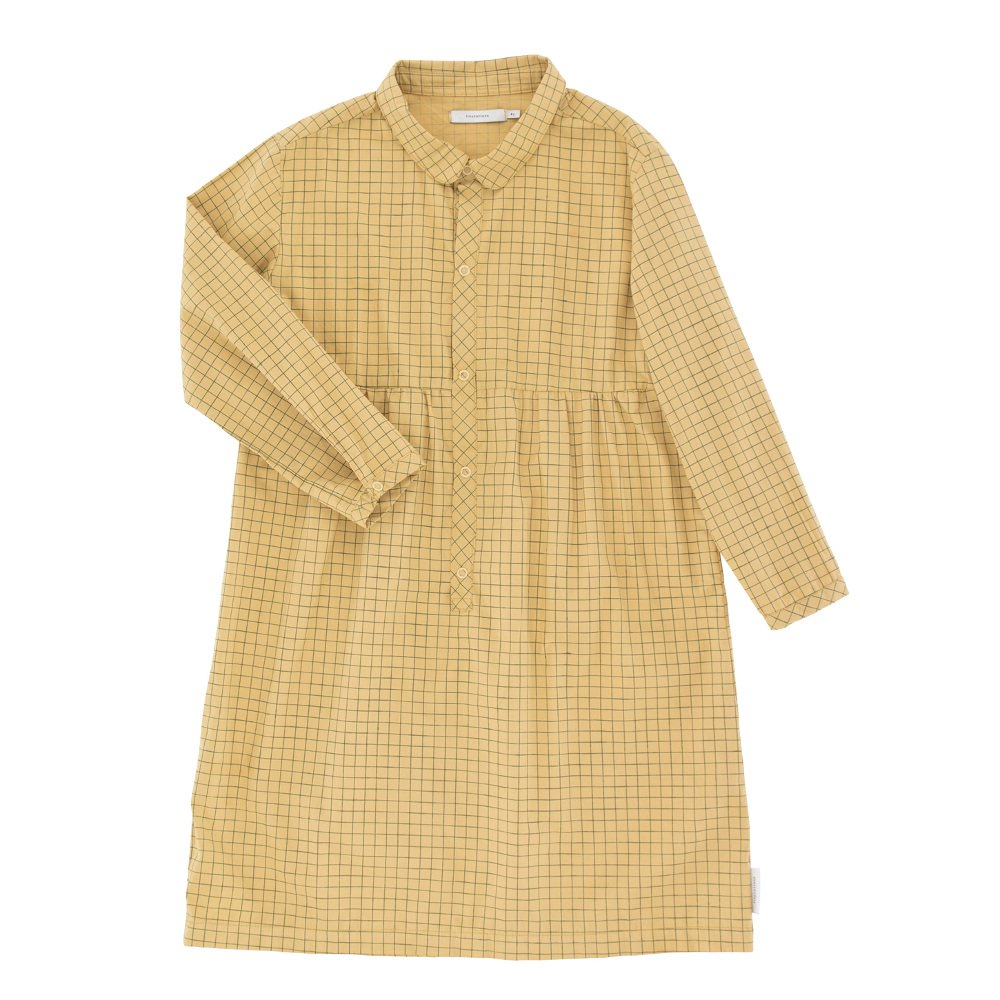 【30%OFF セール】tinycottons(タイニーコットンズ)2018AW <br>grid ls dress<BR>格子柄シャツワンピース
