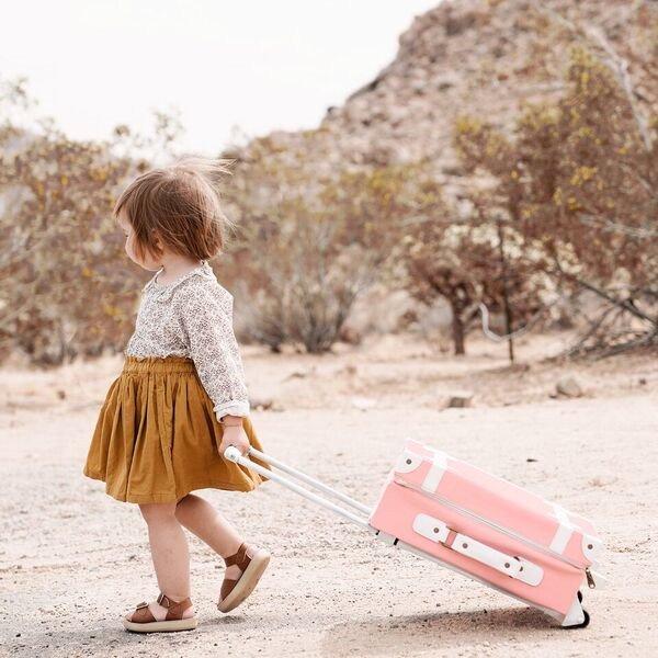 Olli Ella(オリエラ)<br>See-Ya Suitcase ROSE<BR>キッズキャリーバッグ ローズ<BR>(スーツケース、インテリア)