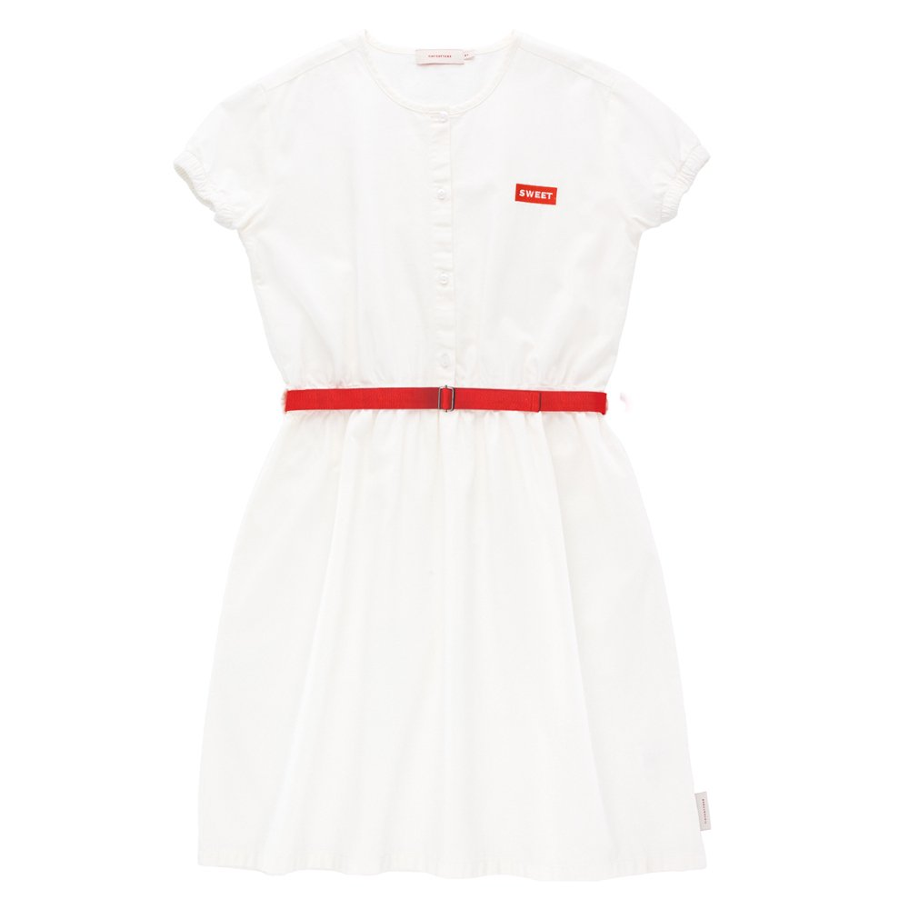★30%OFFセール★tinycottons(タイニーコットンズ)2019SS <br>'SWEET' SS DRESS<BR>サマードレス(ワンピース)<BR>off-white/red