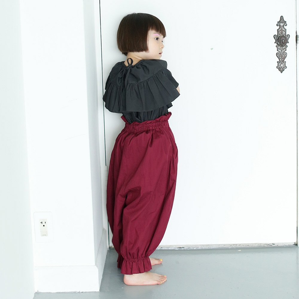 <img class='new_mark_img1' src='https://img.shop-pro.jp/img/new/icons5.gif' style='border:none;display:inline;margin:0px;padding:0px;width:auto;' />【送料無料】folkmade(フォークメイド)2018SS<br>long pants with suspenders <BR>サスペンダー付サロペット<BR>black<BR>レディースサイズ