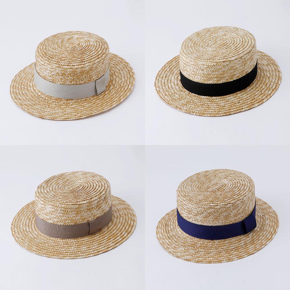 ★30%OFFセール★WILLYS(ウィリーズ)2019SS <br>Canotier カンカン帽(無地リボン)<BR>麦わら帽子