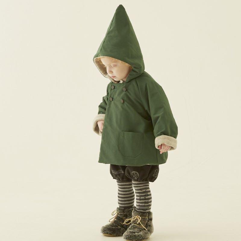 【20%OFFセール】eLfinFolk (エルフィンフォルク)2019AW<br>elf coat<BR>撥水、裏フリースコート<BR>90-130サイズ >