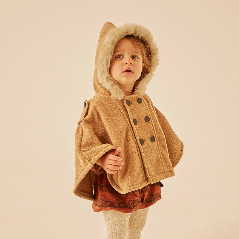 eLfinFolk (エルフィンフォルク)2020AW<BR>freece baby cape<BR>フリースベビーケープ、コート