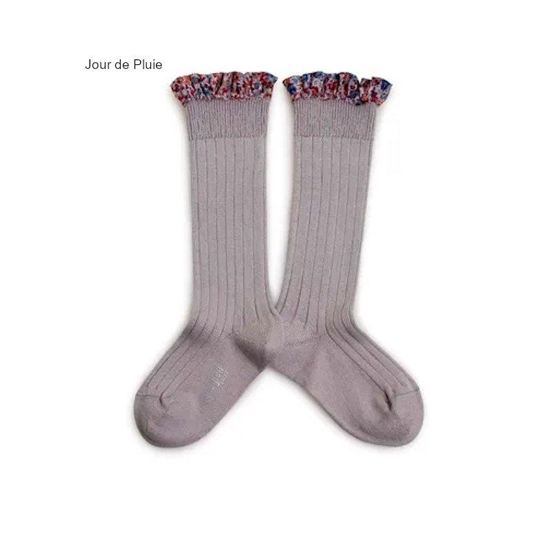 collegien(コレジアン)<br>liberty socks リバティ ロングソックス キッズ 靴下<BR>Doux Agneaux