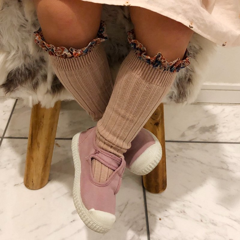 collegien(コレジアン)<br>liberty socks リバティ ロングソックス キッズ 靴下<BR>6カラー多サイズ展開