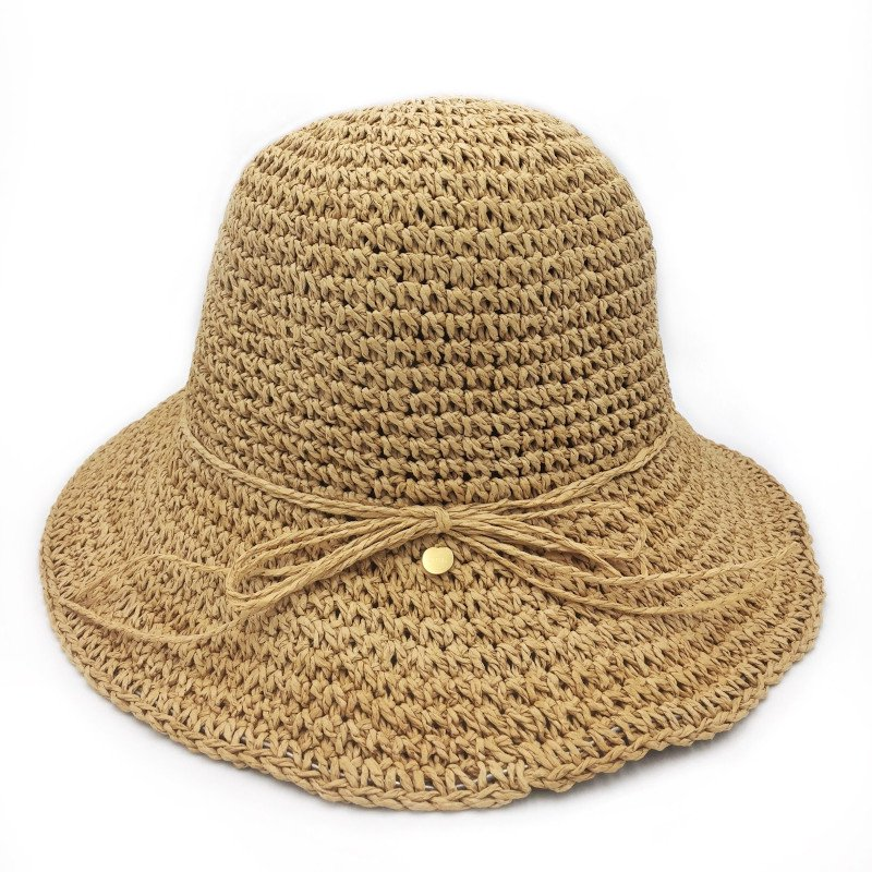 fini. hat (フィニ ハット)<BR>straw hat - natural<BR>麦わら帽子 ペーパーストローハット<BR>キッズ、レディースサイズ