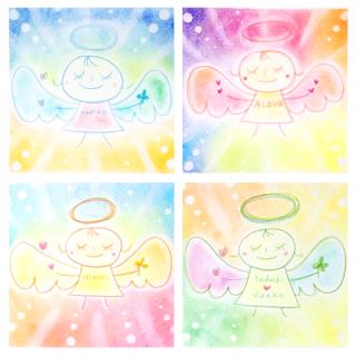 【数量限定】リーディングメッセージ付き♡しあわせ天使アート〜今のあなたへ天使からのメッセージ〜
