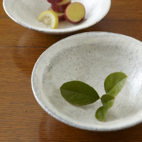 粉引6寸鉢