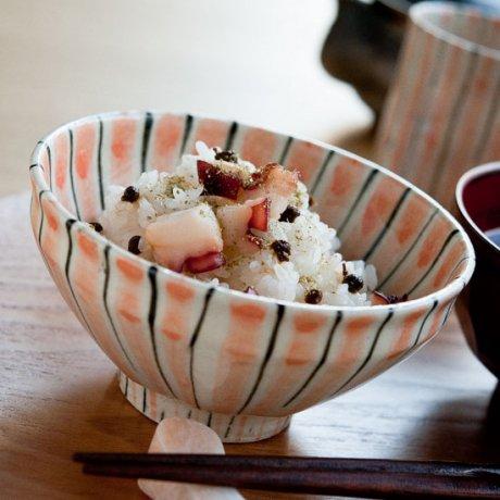 十草飯碗(オレンジ)