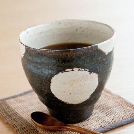 黒釉丸文フリーカップ