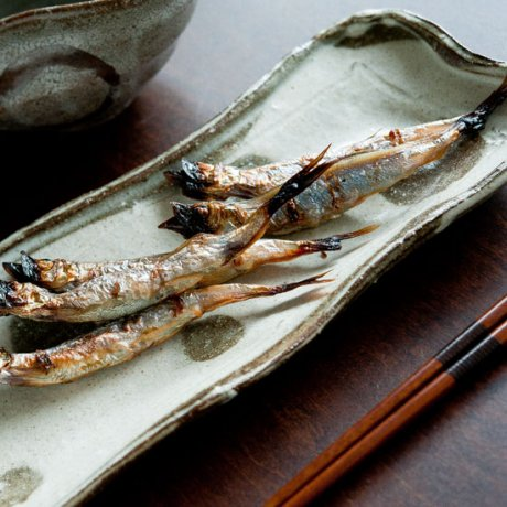 白水玉削ぎ長方皿(中)