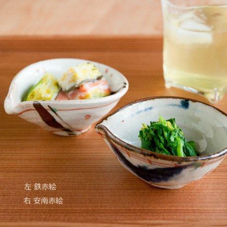 片口豆鉢(鉄赤絵・安南赤絵)