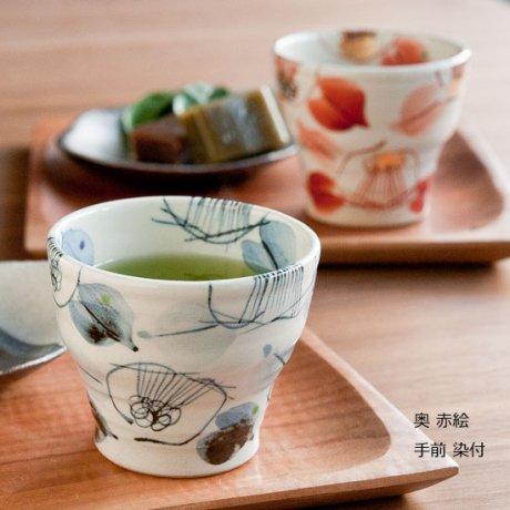 椿ちょこっとマイカップ(赤絵・染付)