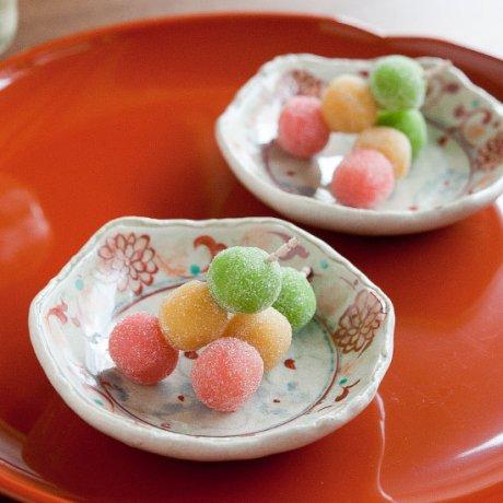 安南赤絵六角豆鉢
