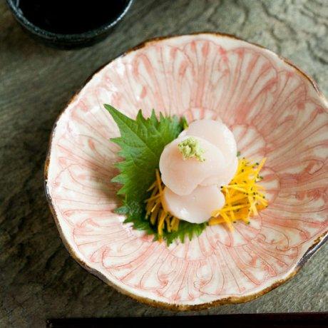 牡丹文5寸浅鉢