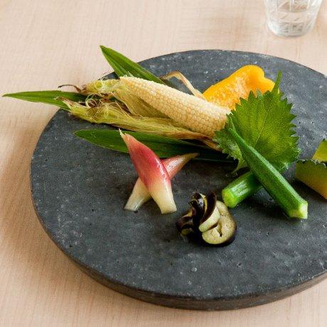 黒台皿(大)