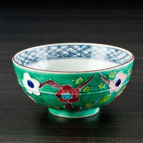 緑交趾飯碗