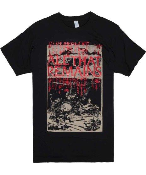 オール ザット リメインズ ( All That Remains ) Tシャツ Battle Scene Foil
