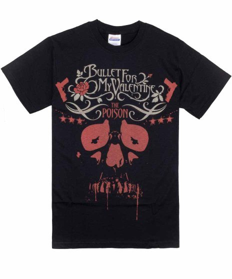 <img class='new_mark_img1' src='https://img.shop-pro.jp/img/new/icons39.gif' style='border:none;display:inline;margin:0px;padding:0px;width:auto;' />Bullet For My Valentine Tシャツ Poison Skull
