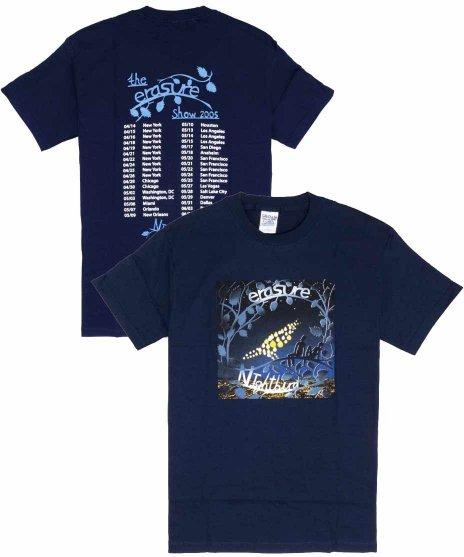 イレイジャー ( Erasure ) Tシャツ ナイトバード・ツアー