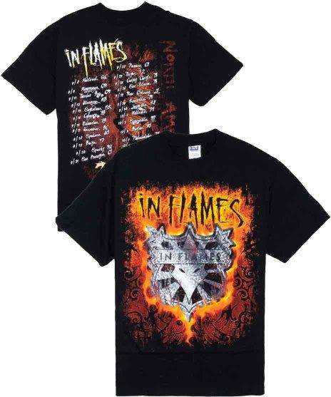 イン フレイムス ( In Flames ) Tシャツ 2009北米ツアー